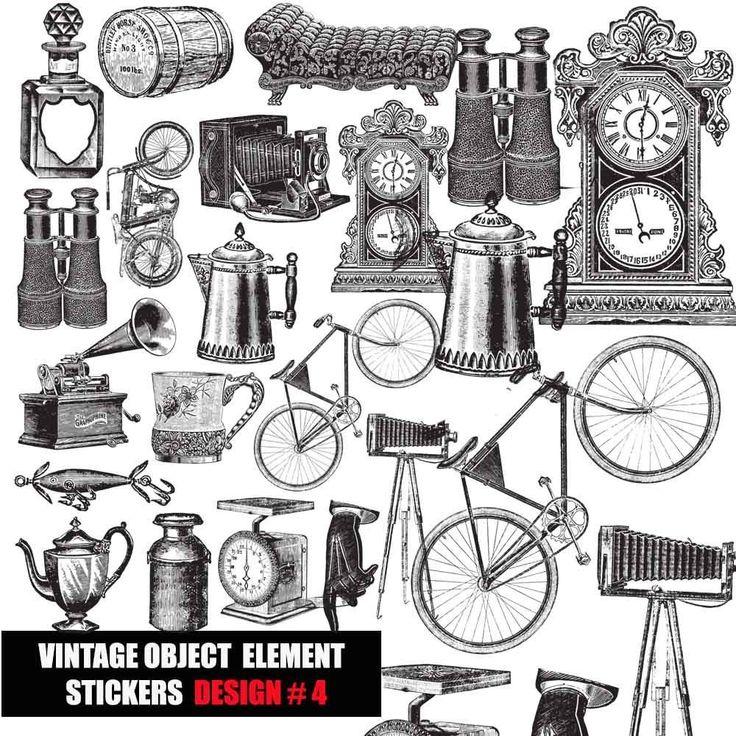 vintage ephemera,embellishment Die Cut SET,LABELS STICKERS Scrapbook Decoupage