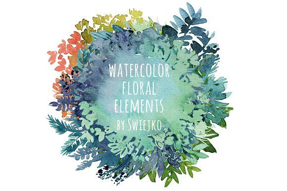 Watercolor Floral Frames by swiejko on @creativemarket