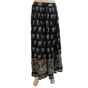 "Womens Summer Long Skirt Elephant Printed Gypsy Boho Cotton Black Skirts 36""l (Apparel)  http://www.amazon.com/dp/B007P2G9VK/?tag=http://howtogetfaster.co.uk/jenks.php?p=B007P2G9VK  B007P2G9VK"