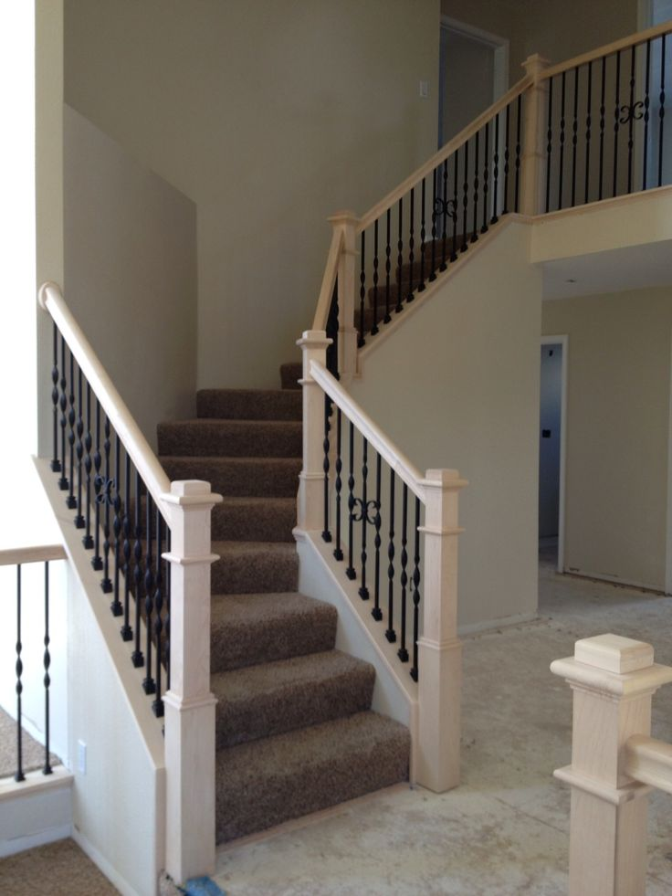 Best Basement Stairs With Iron Balusters White Posts Google 640 x 480