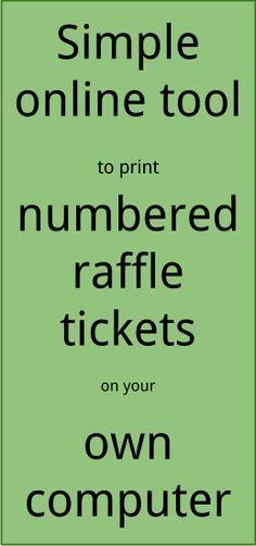 The 25+ best Raffle ticket printing ideas on Pinterest | Printable ...