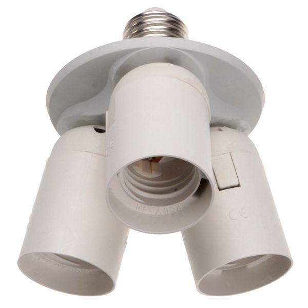 One E27 To Three E27 Light Bulbs Base Adaptor Socket Splitter Photography Lamp Light Bulb Adapter Bulb Adapter Light Bulb Bases