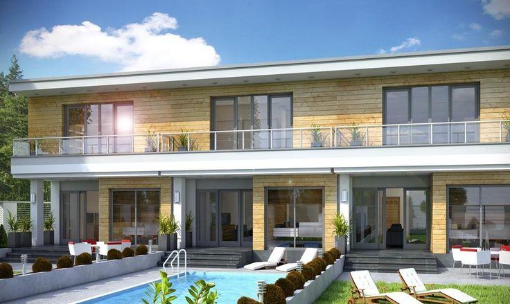 eden segment to bardzo wąski piętrowy dom dla 4 lub 5-cio osobowej rodziny zaprojektowany z myślą o wąskich i nietypowych działka oraz do zabudowy bliźniaczej i szeregowej.