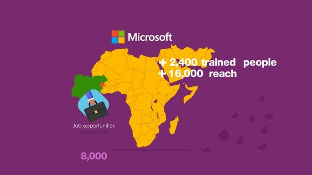 A Motion graphic series for Microsoft  Microsoft offers a complete suite of cloud services to improve your nonprofit's efficiency and data security. Easy to integrate and manage within your organization. Get it for free or at a considerable discount!