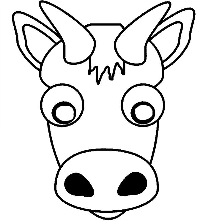 50 Free Animal Mask Templates Designs Emoji Coloring Pages