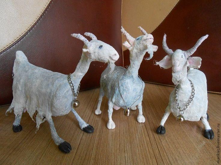 Новогодний мастер-класс: делаем козу Стеллу из ваты - Ярмарка Мастеров - ручная работа, handmade