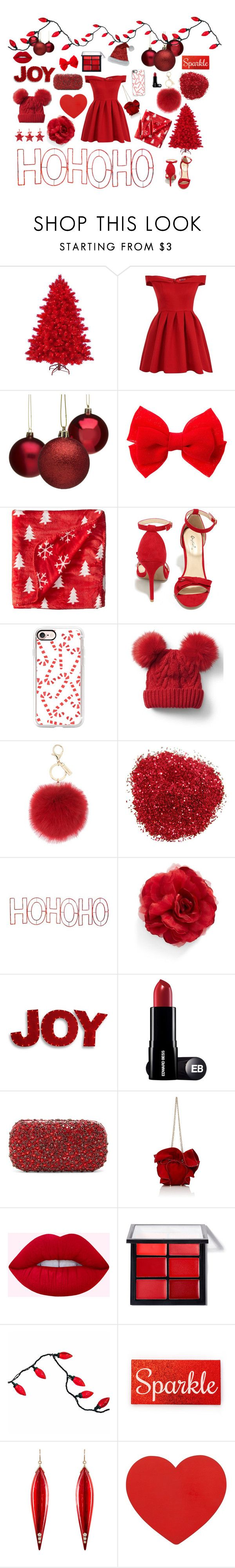 """""""Santa baby"""" by mex2 ❤ liked on Polyvore featuring Chi Chi, Life is good, Qupid, Casetify, Gap, L.K.Bennett, Mr. Christmas, Cara, National Tree Company and Alice + Olivia"""