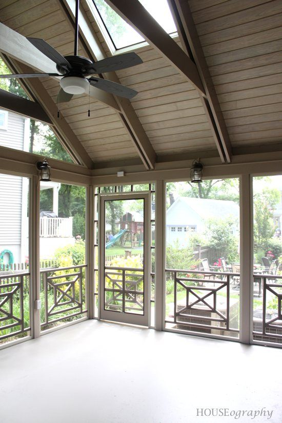 Houseography S New Screened Porch Exteriors Pinterest
