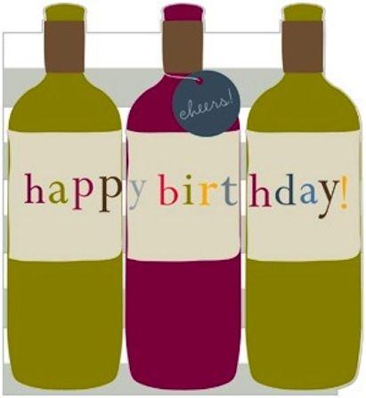 Die Cut Wine Bottles Birthday Card
