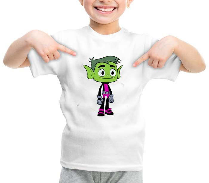 Beast Boy teen titans graphic printed youth toddler tshirt