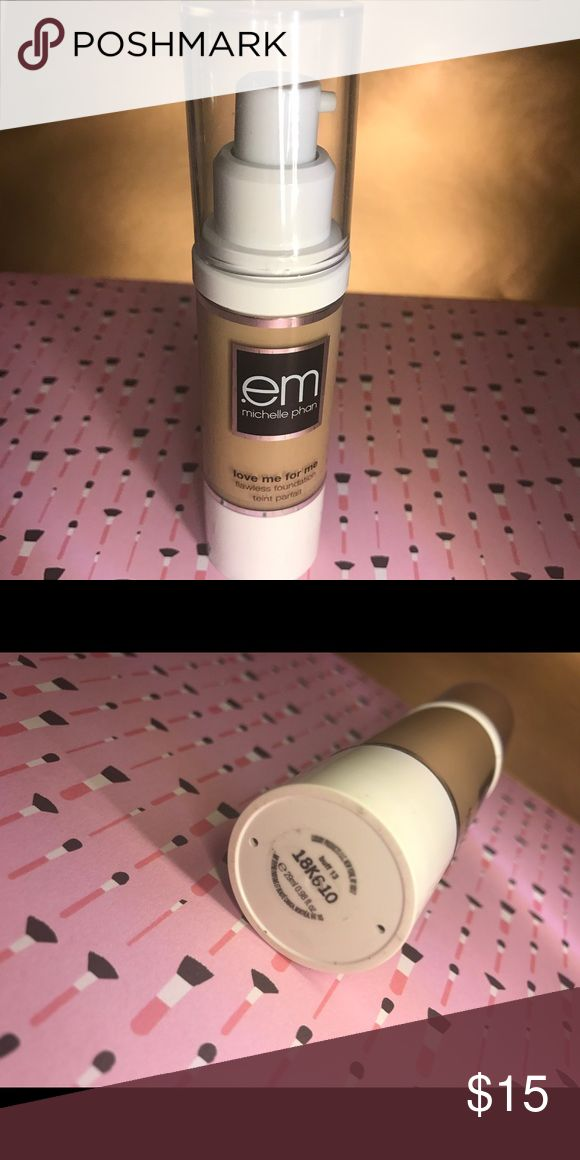 Em Cosmetics Love Me For Me Foundation (Buff 13) { barely used; nearly new } shade: buff 13 (light-medium, cool-toned) full coverage, very little goes a long way. Good for dry skin and has a satin finish. I recommend using a sponge with this, otherwise, tread lightly with brush application - it's potent. Em Cosmetics Makeup Foundation