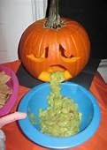 Pumpkin Throwing Up Guacamole - Bing Images