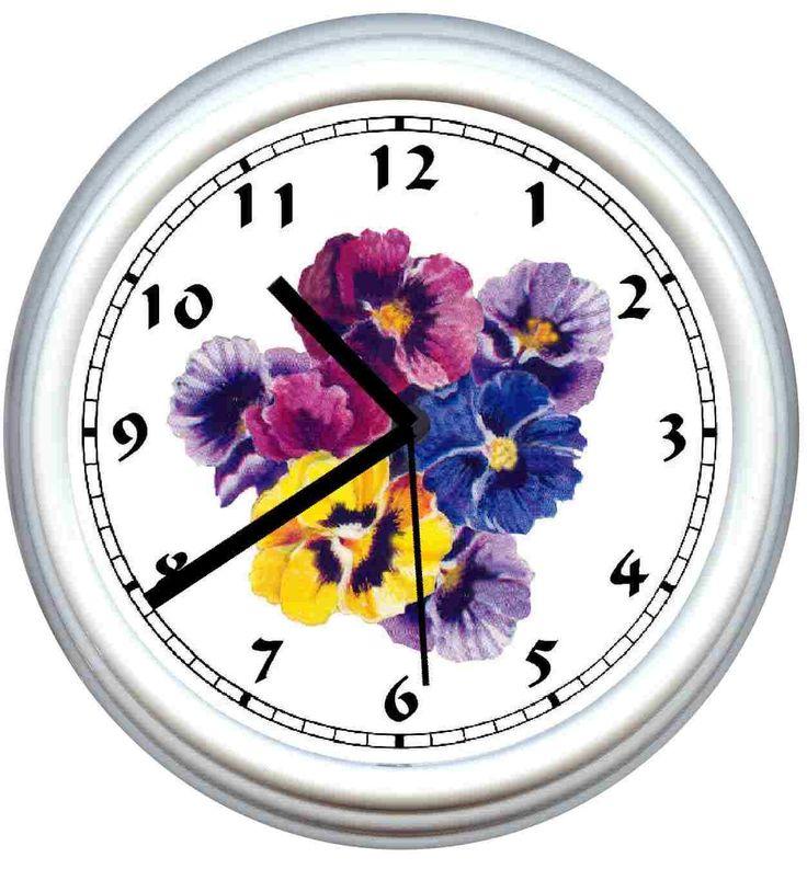 Pansies - Pansy Clocks Clock