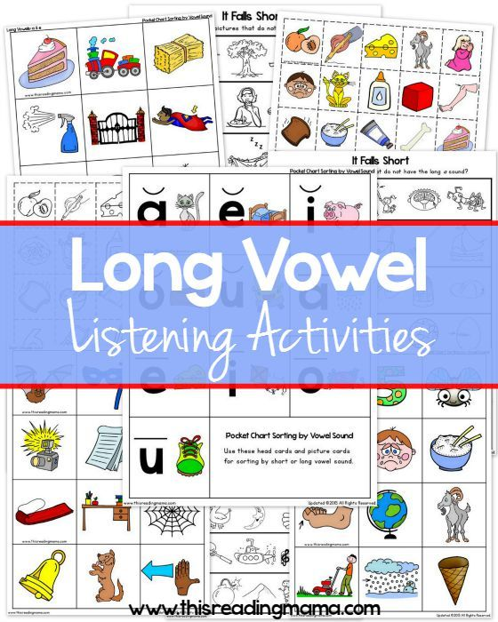 Long Vowel Sounds Listening Activities Pack - FREE - This Reading Mama