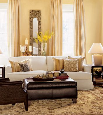 Benjamin moore chestertown buff paint colors pinterest - Good colors for living room and kitchen ...