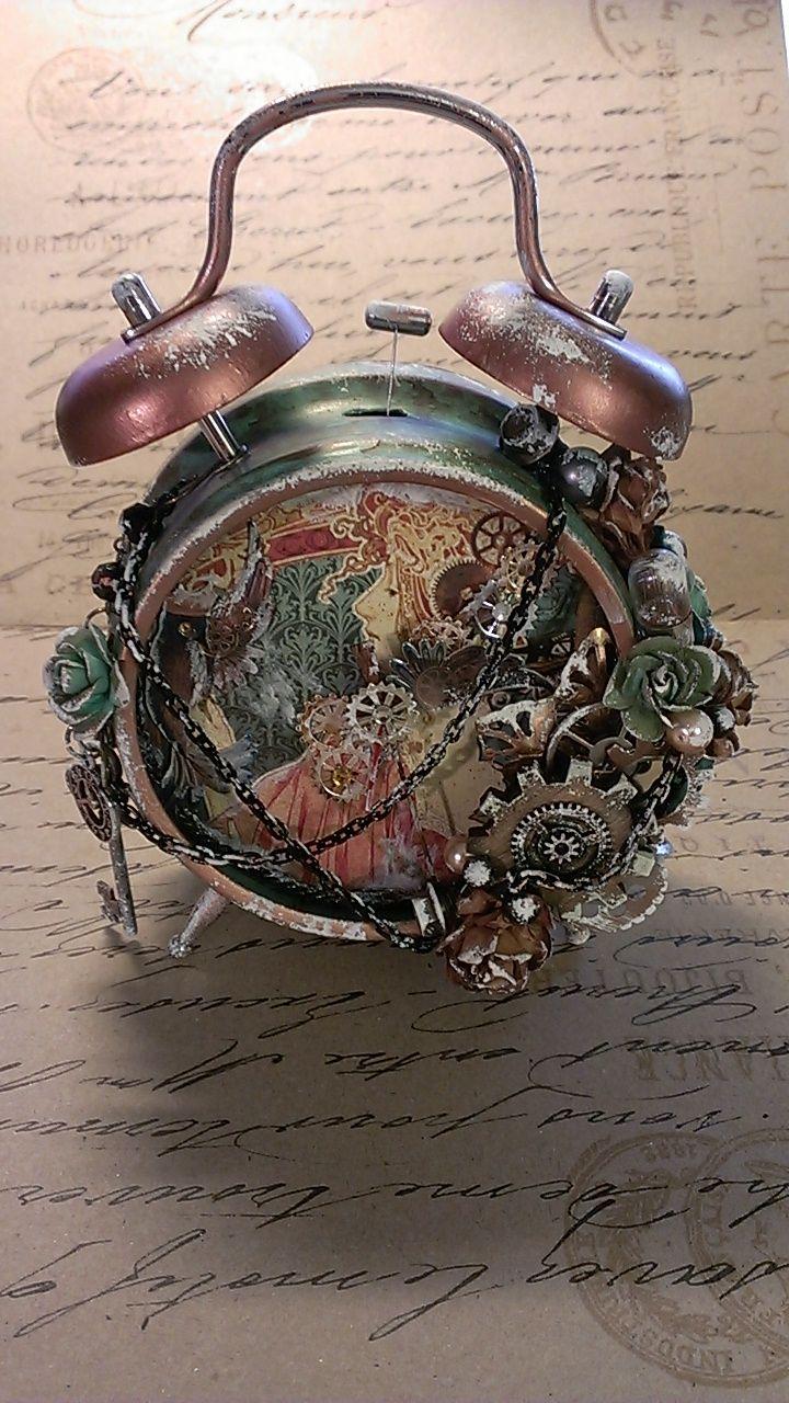 8 Best Tim Holtz Clock Images On Pinterest Altered Art
