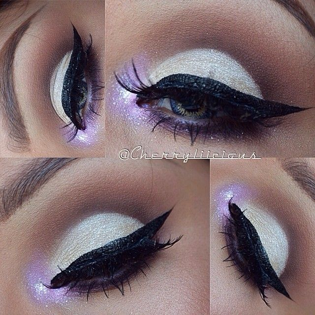 absolutely gorgeous! almost celestial... i love this look. now inspired to run out and buy glitter....