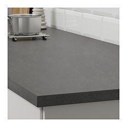 IKEA - EKBACKEN, Plan de travail, imitation ciment, 246x2.8 cm, , Garantie 25 ans gratuite. Détails des conditions disponibles en magasin ou sur internet.Les plans de travail stratifiés sont très résistants et faciles à entretenir. Ils gardent leur aspect neuf pendant de nombreuses années.Le plan de travail le plus fin avec baguette de chant droite est idéal dans une cuisine de style moderne.Vous pouvez couper le plan de travail à la longueur souhaitée et masquer les côtés découpés à l&a...