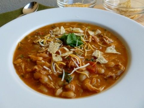 Chicken White Bean Salsa Soup | Easy Healthy Weight Watchers Recipes