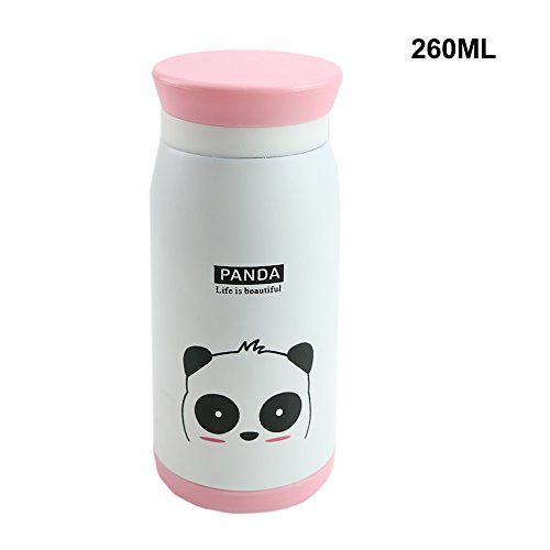 Hunulu 1PC New Cute Animal Cartoon Stainless Steel Vacuum Cup Travel Mug Thermos Bottle white small * Learn more by visiting the image link. (Note:Amazon affiliate link)
