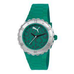 PUMA Women's PU103432002 Blast S Camo Green Analog Display Quartz Green Watch