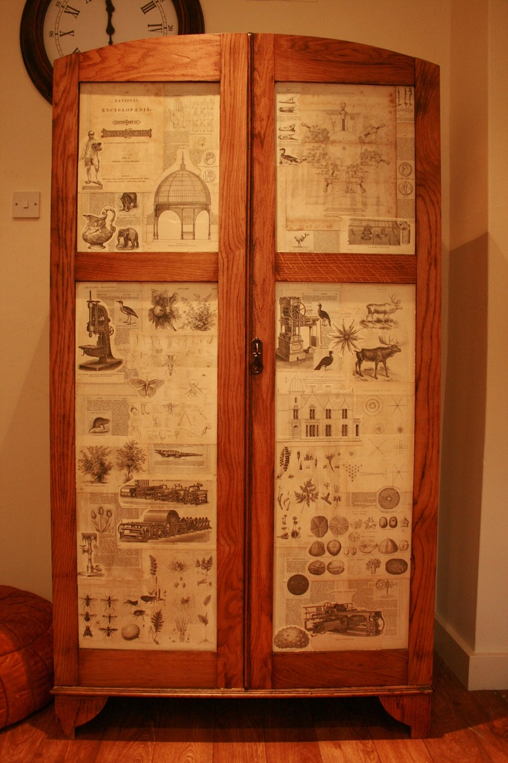 Art Deco Wardrobe/ Storage Upcycled. £349.00, via Etsy.
