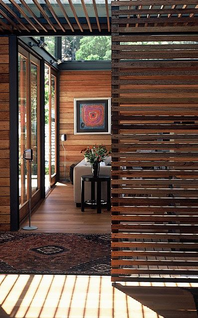 Russ was just saying he liked the idea of leaving antique framing slats (the kind designed to support plaster walls) exposed....Here's a modern take on that (Paolo Deliperi)