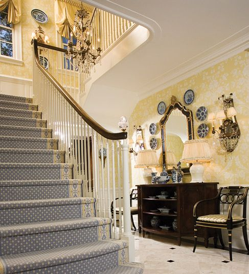 16 Elegant Traditional Staircase Designs That Will Amaze You: JM-Designs-Traditional, Timeless, And Lovely.