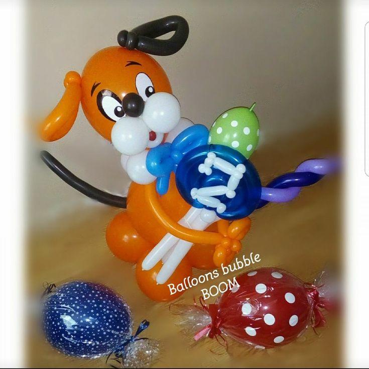 Balloons sculpture. Dog