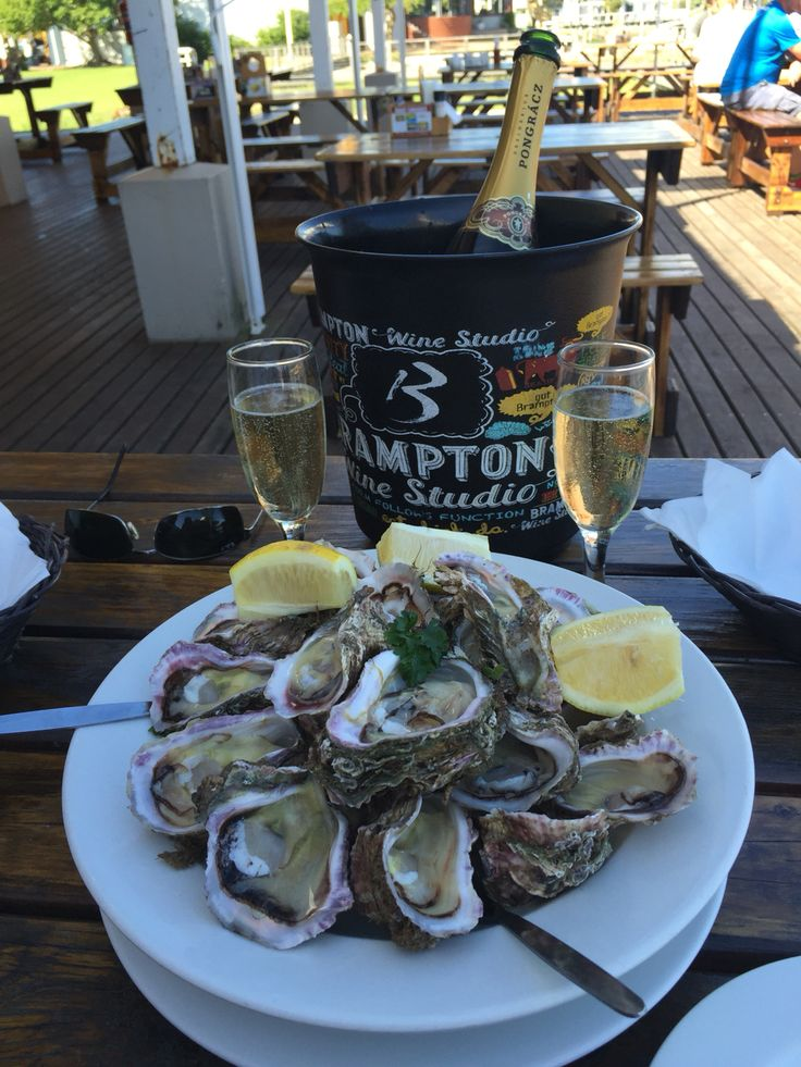 Champeign & oysters at Quay Four in Knysna Cape Town South Africa