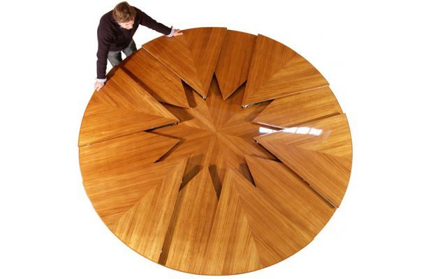 David Fletcher created a Magical Table that expands and contracts.