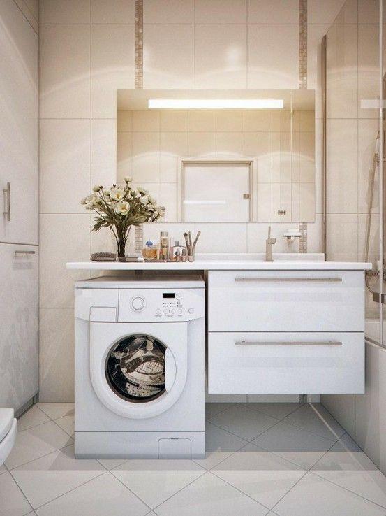 designer de banheiros de apartamentos pequenos com lavanderia junto - Pesquisa Google