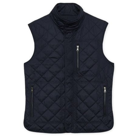 Tailorbyrd Quilted Vest in Navy, Brown, or Slate. Available on frostshoes.com or in Downtown Traverse City.
