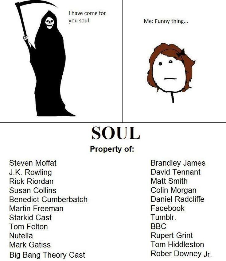 Sad how accurate this is. Steven Moffat, J.K. Rowling, Rick Riordan, <3 Benedict Cumberbatch, <3 Martin Freeman... <3 David Tennant... yeaahhh
