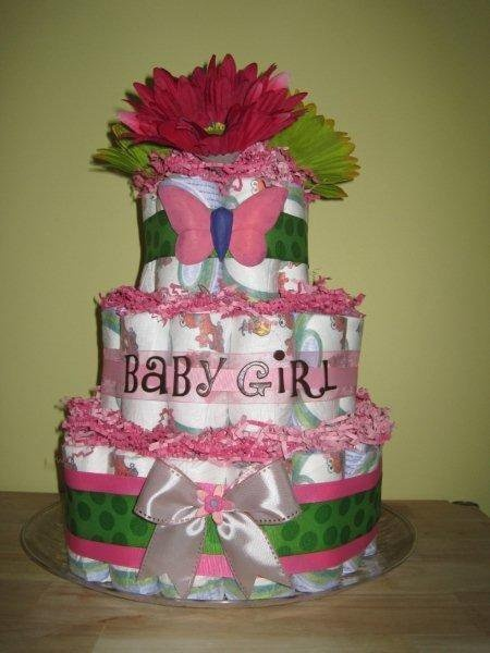 Diaper Cake Ideas Girl