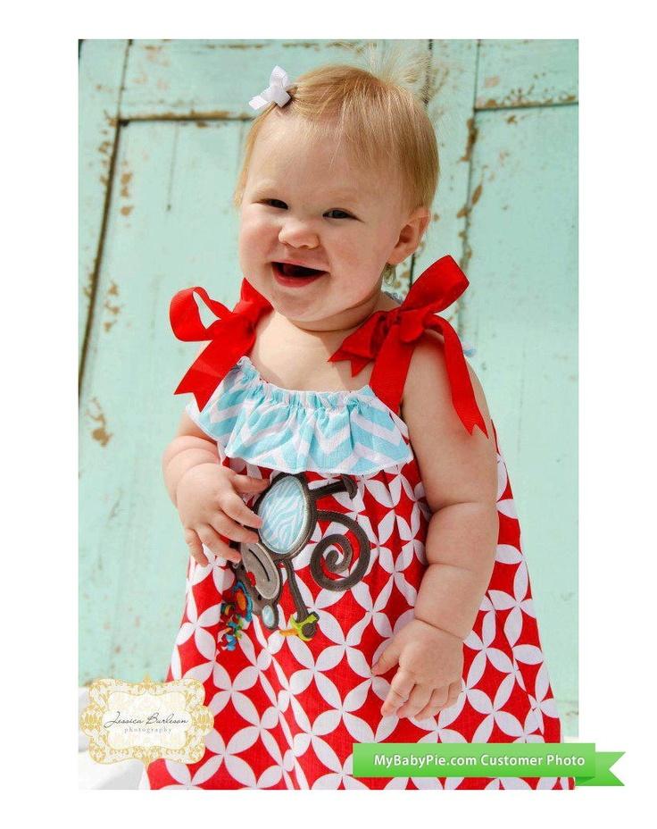 Baby Safari Monkey Dress at MyBabyPIe.com