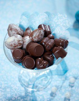 Uhm! Hjemmelavede chokolader med fyld!