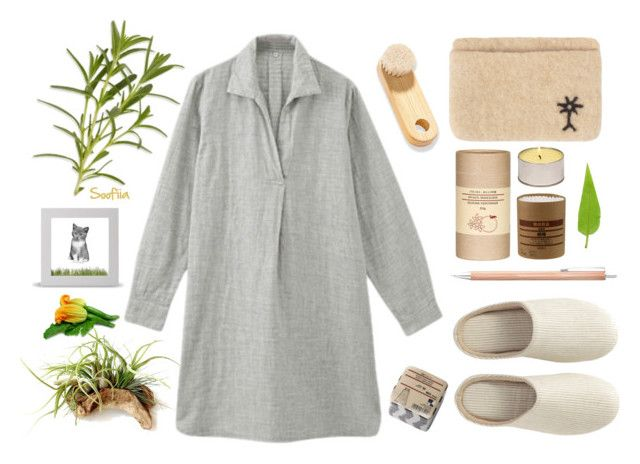 """Natural MUJI shopping"" by soofiia ❤ liked on Polyvore featuring Muji and Metaphys"