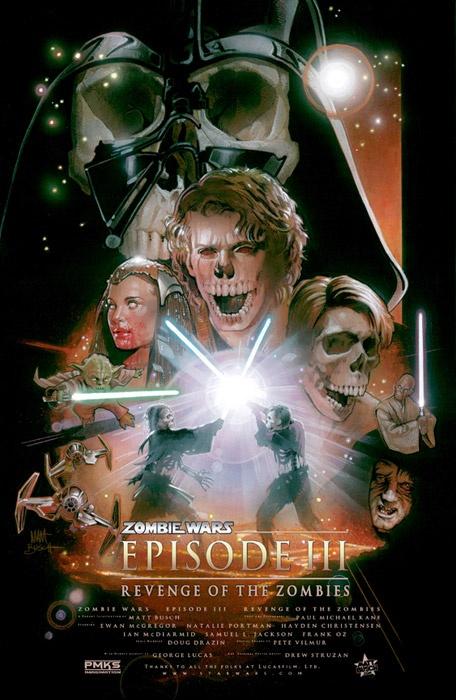Star Wars - Episode III  Zombie: Movie Posters, Episode Iii, Zombies War, Star Wars, Stars Wars, Zombie Wars, War Zombies, Awesome Art, Starwars