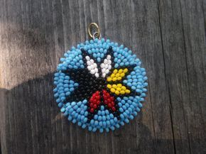 morningstar pendent, native american beadwork by deancouchie on Etsy