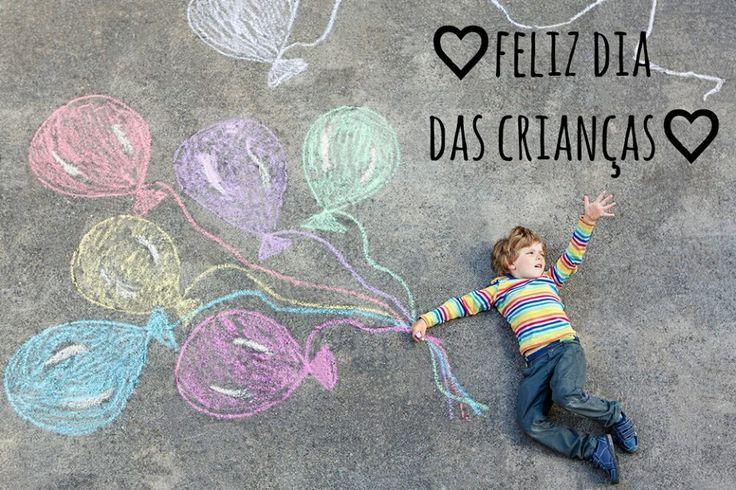 Ser criança é sempre ver o lado positivo, doce, alegre e bonito da vida! Feliz dia pros pequenos que encantam nosso mundo!