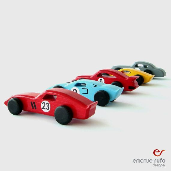 "Wooden Toys, wooden cars ""classic race cars""  (set of 5 cars) on Etsy, $140.59"