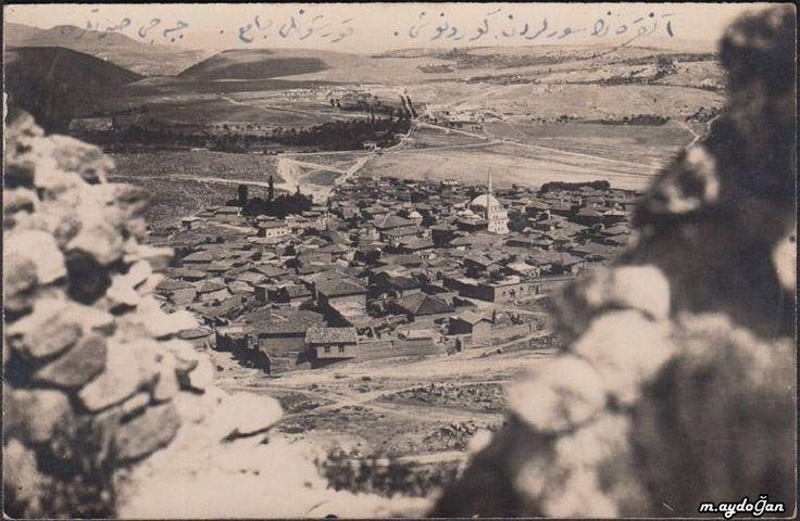 Ankara`nın surlarından görünüş. Kurşunlu Camii, Cebeci sırtları