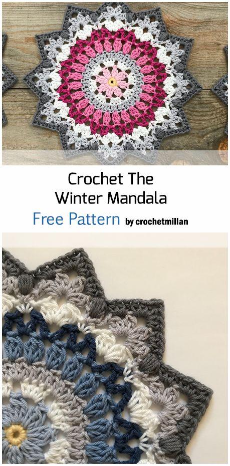 Crochet Winter Mandala – Free Pattern