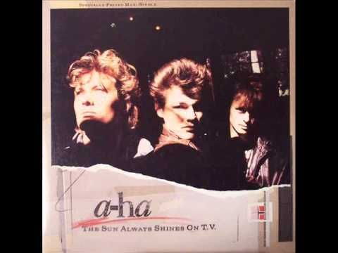 """""""The Sun Always Shines on T.V."""" by Norwegian pop band A-ha. Released as third single from band's debut album, Hunting High and Low (1985)."""