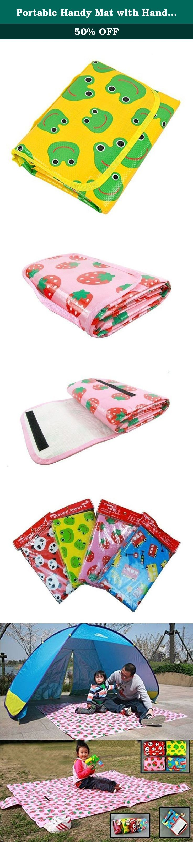 """Portable Handy Mat with Handle for Beach, Picnic, Camping, or Any Outdoor Activities Extra Large Measures 70.2"""" x 62.4"""". Size: 180 x 160cm / 70.2"""""""" x 62.4"""""""" Miti Size: 200 x 160cm (L X W), 0.5-0.7cm (Thickness) For a four-person household Pattern: Panda/Strawberry/Car Surface water treatment, wipe clean very convenient Foldable bag with hand-carry design, easy to carry Spring, but also to the outing with a baby, to the park, beach, green spaces, on the outskirts, you have a great need for..."""