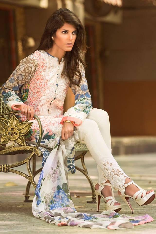 Pakistani outfit. Zara Shahjahan, summer 2015.