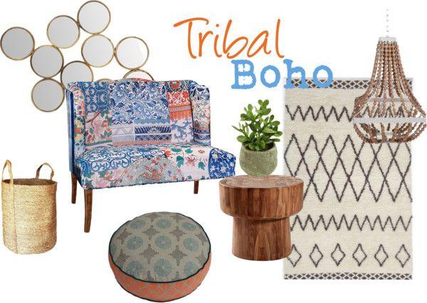 Tribal Boho Lounge Room -  Chamomile and Peppermint Blog