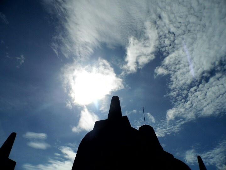 Borobudur under the sun....