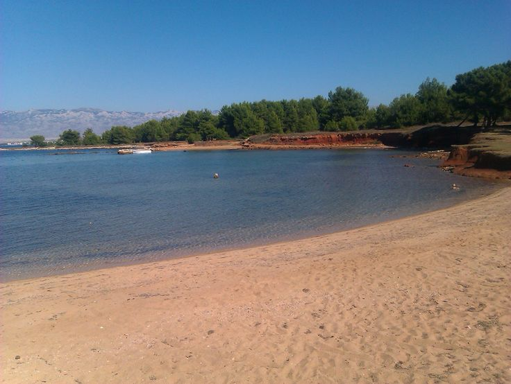 Sandy beach on island Vir in Dalmatia, Croatia